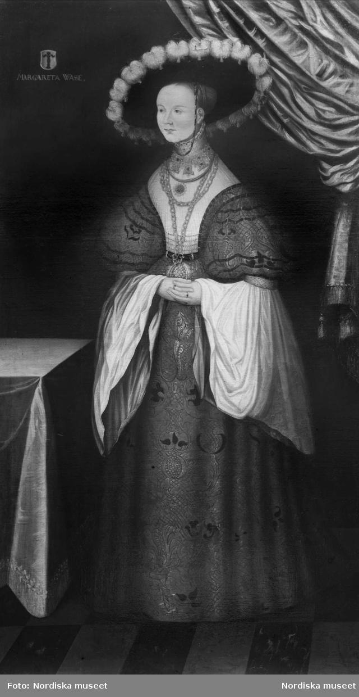 Porträtt av Margareta Vasa. Oljemålning. Nordiska museet inv.nr 77238.