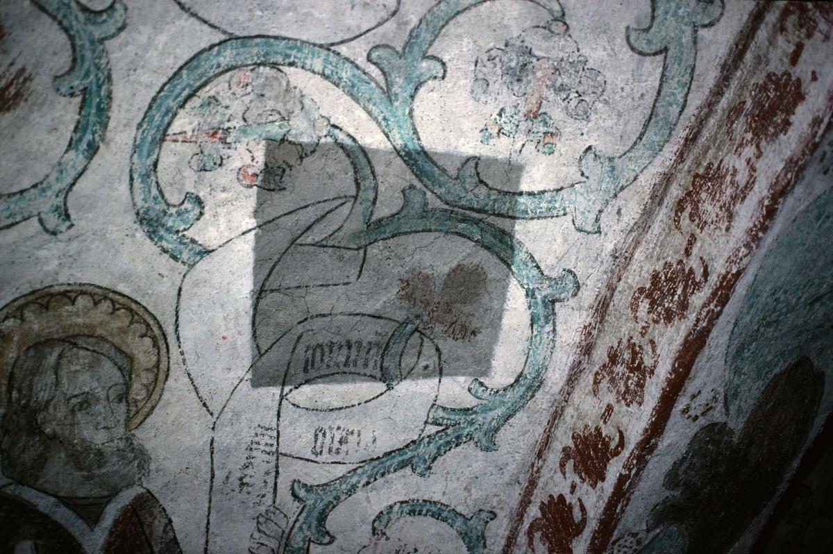 Kalkmålning i Viksta kyrka, Viksta socken, Uppland 1986