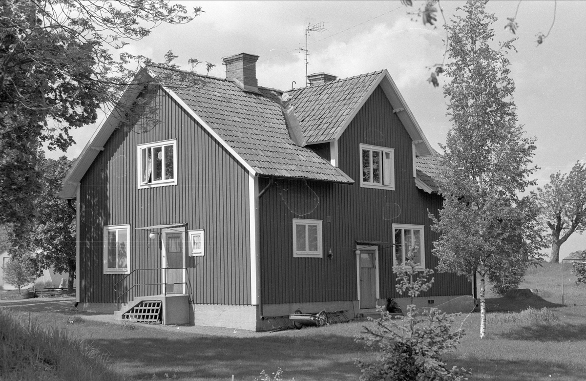 Bostadshus, Villinge 1:1, Danmarks socken, Uppland 1977