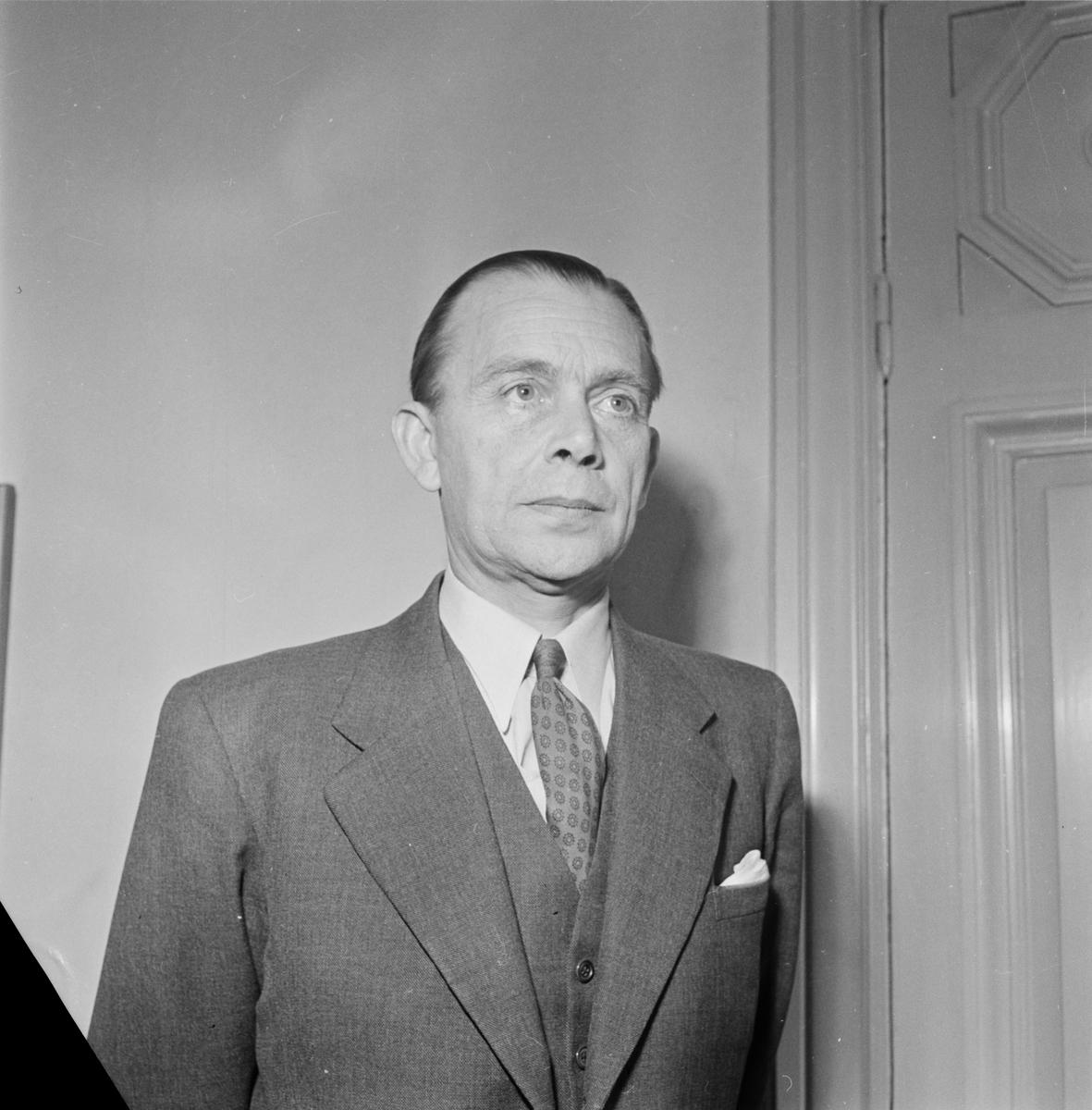 Docent Ruben Johansson, Uppsala 1954