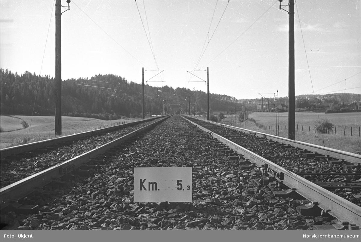 Hovedbanen : linjeføring km 5,3