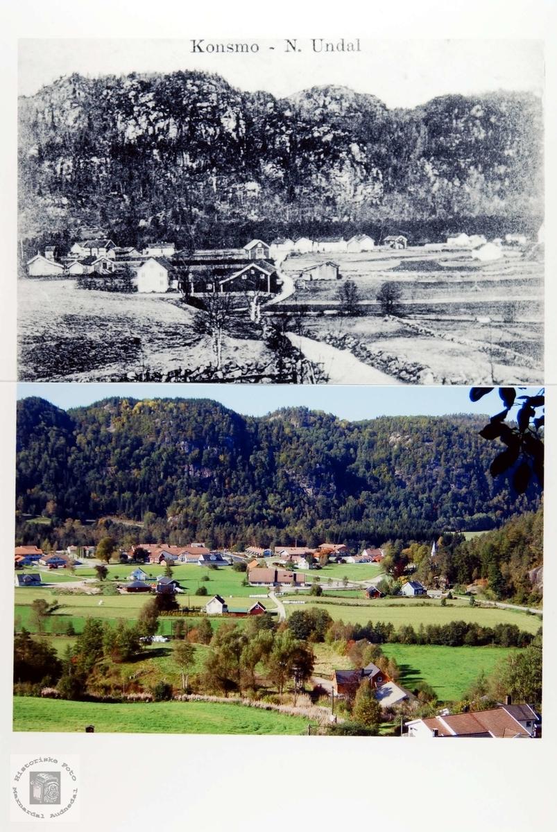 Konsmo ved århundreskiftet 1800/1900 og i 2008.