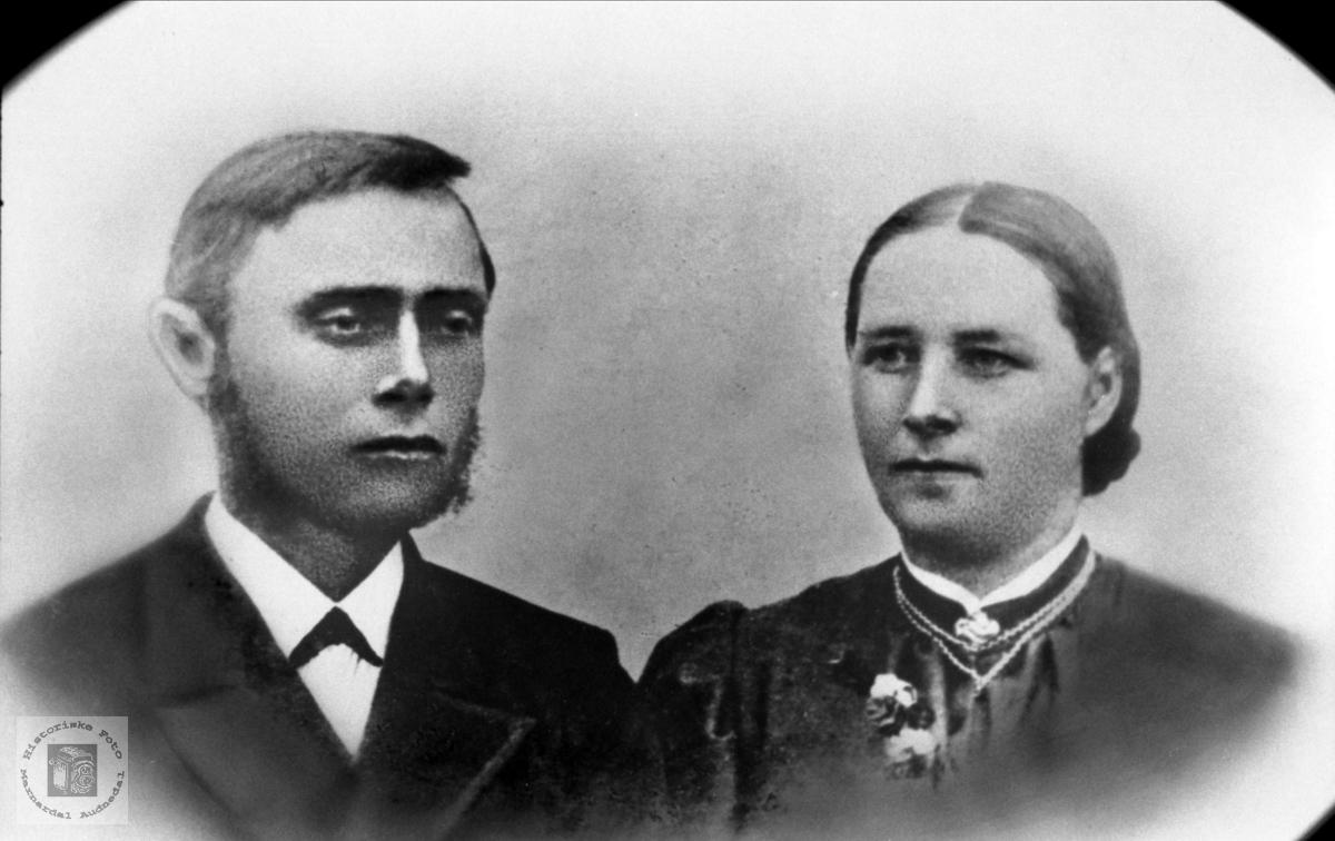 Ekteparet Knud og Torborg Koland. Bjelland.