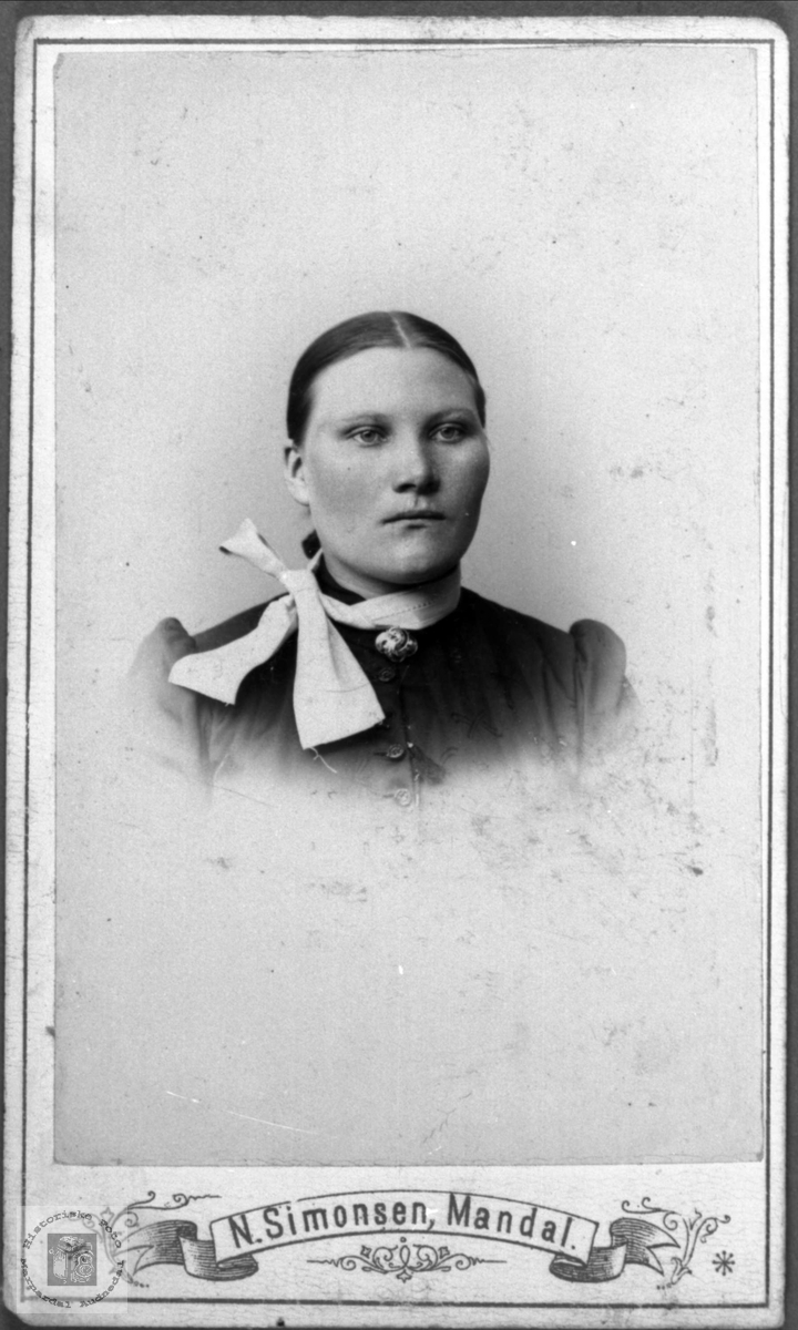 Portrett av Tarjerd Olsdtr. Abelset, Bjelland.