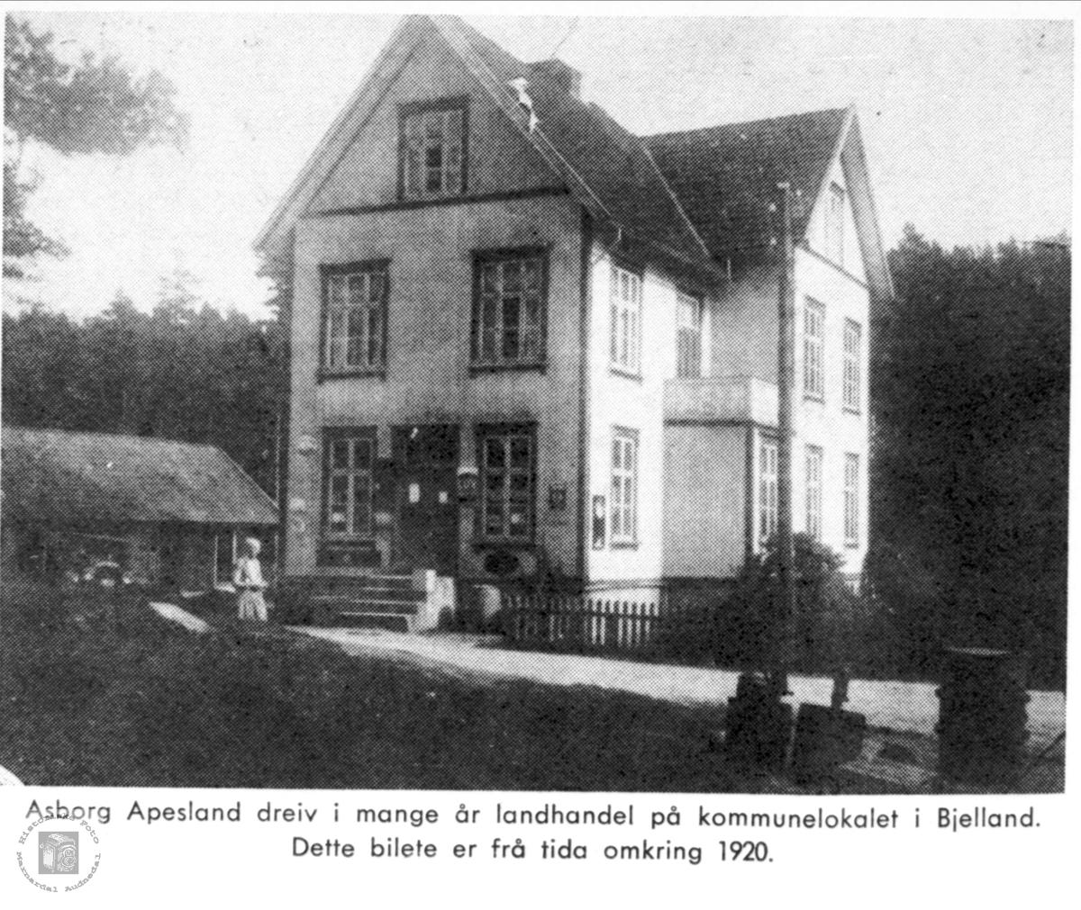 Kommunelokalet i Bjelland.
