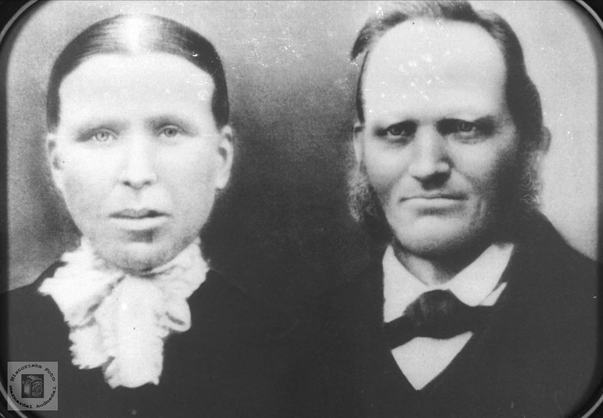 Ekteparet Sille Tomine og Tobias Bjåstad med tilknytning til Vigmostad og Øyslebø.