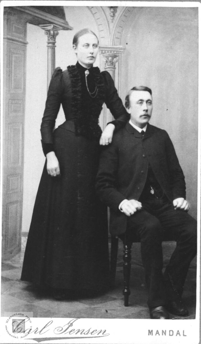 Ekteparet Marte og Reinert Sløgedal, Øyslebø.