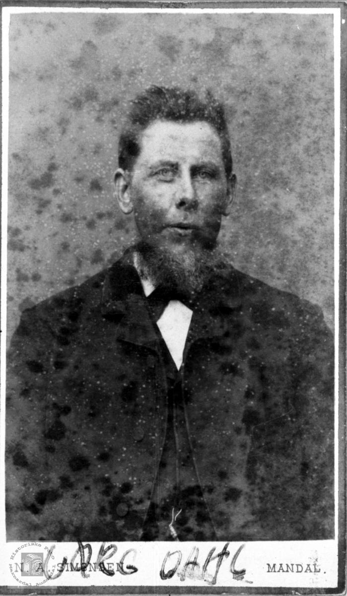 Portrett av Jørg Repstad Dahl, Søgne.