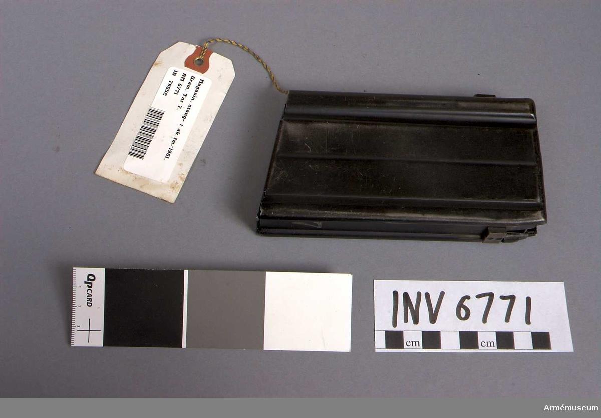 Märkt 7.  Samhörande: AM 6770 automatkarbin fm/1961 Gram, AM 6771 stångmagasin 20-skotts.