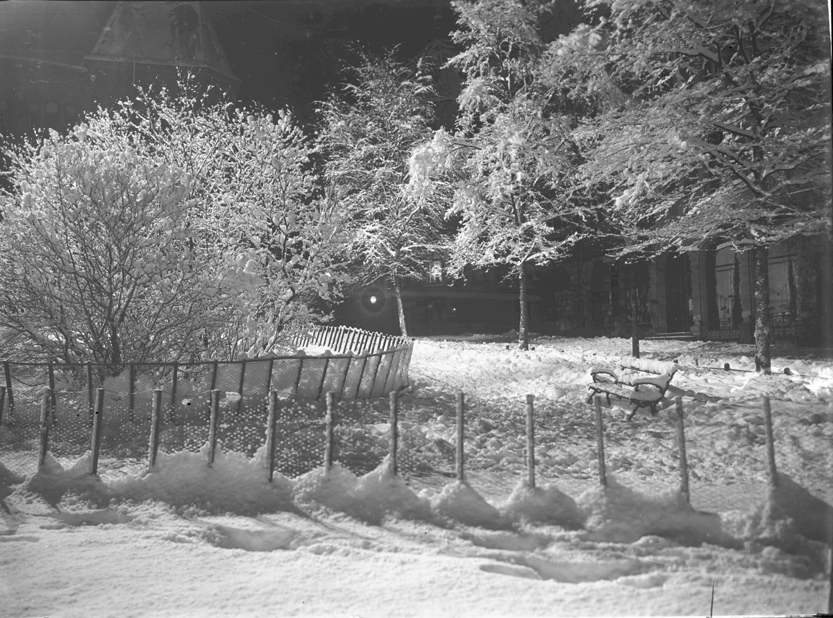 Wessels plass, Kristiania. Vinterbilde