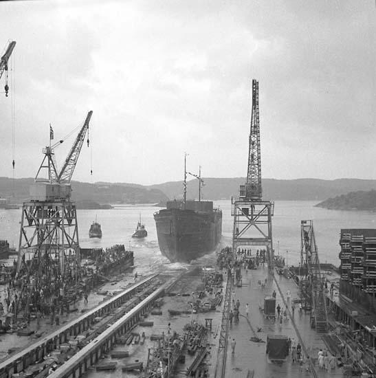 Sjösättning av fartyg 106 M/T Mai Bente.