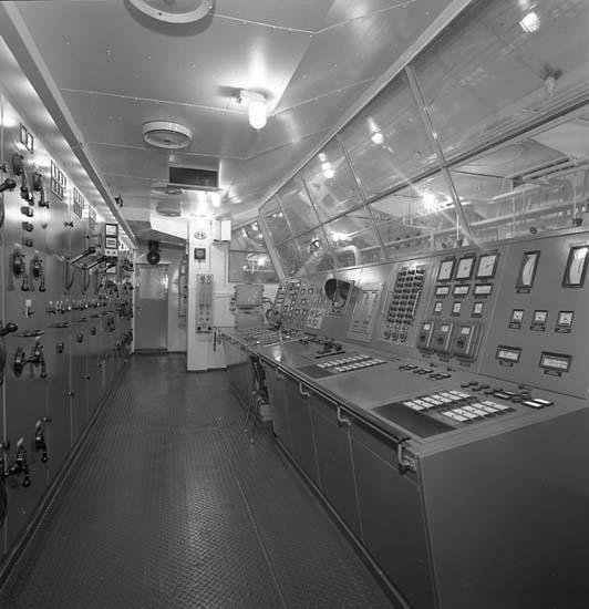 Bild från kontrollrummet på fartyg 116-119, troligen från 116 S/S Vorkuta PT 57.