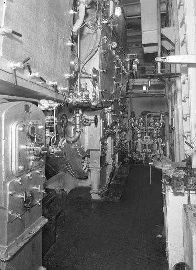 Fartygsinteriör från fartyg 126 M/T Aslaug Torm, maskinrum.