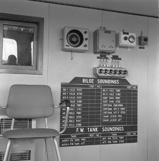 Interiör från fartyg 191 M/S London Statesman.