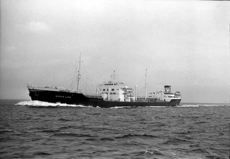 M/T Norse Lion DWT.18.950 Rederi Odd Godager & Co, Oslo Norge Kölsträckning 53-04-25 Nr. 130 Leverans 53-12-03 Tankers