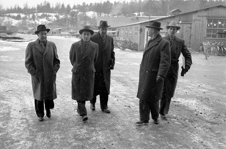 """Enligt notering: """"Luftskyddet på Varvet Jan 1950""""."""