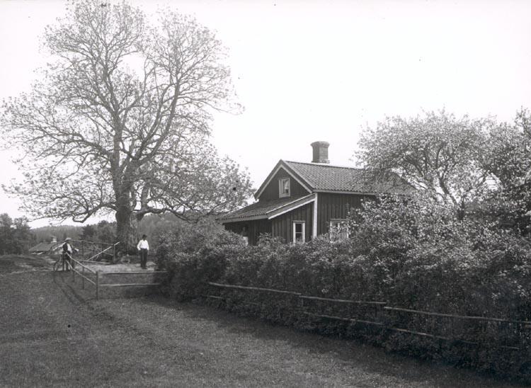 """Noterat på kortet: """"KASEN PONTUS WIKNERS BARNDOMSHEM"""". """"FOTO (D88) DAN SAMUELSON 1924. KÖPT AV DENS. DEC. 1958""""."""