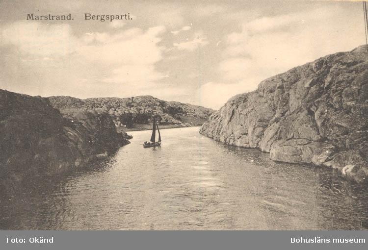 """Tryckt text på kortet: """"Marstrand. Bergsparti."""""""