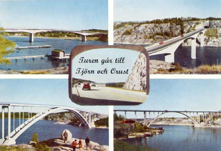 """Tryckt text på kortet: """"Turen går till Tjörn och Orust."""" ::"""