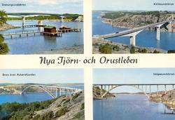 """Tryckt text på kortet: """"Nya Tjörn och Orustleden."""" """"Stenung"""