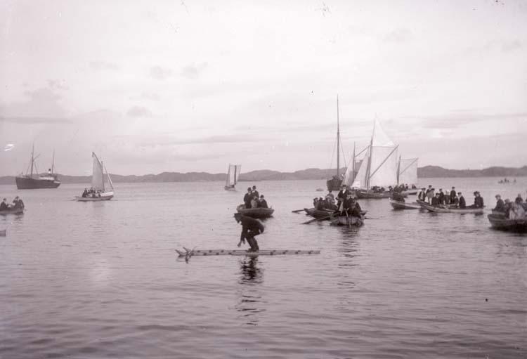 "Regattan ""Vattumannen"" i Havsbadet, Lysekil 1908."