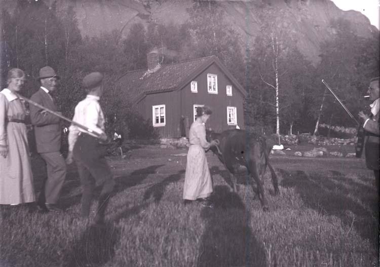 """Enligt text som medföljde bilden: """"Norr Hamre Utfärd 1918/1919."""""""