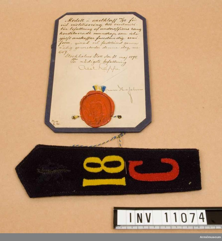 Grupp C I. För vid mobilisering till civilmilitär befattning av underofficers rang konstituerat manskap.