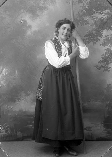 """Enligt fotografens journal Lyckorna 1909-1918: """"Finnman, John Ndre Tjöstelseröd, Lj.kil""""."""