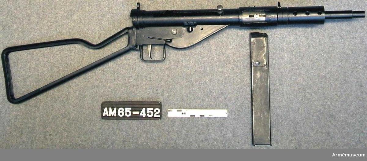 """Grupp E IV.  Använd av norska motståndstrupper 1945. Kallad """"Steingun""""."""