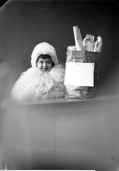 """Enligt fotografens journal nr 4 1918-1922: """"Enander, Birgit Julkort Allmänna vägen Gbg""""."""