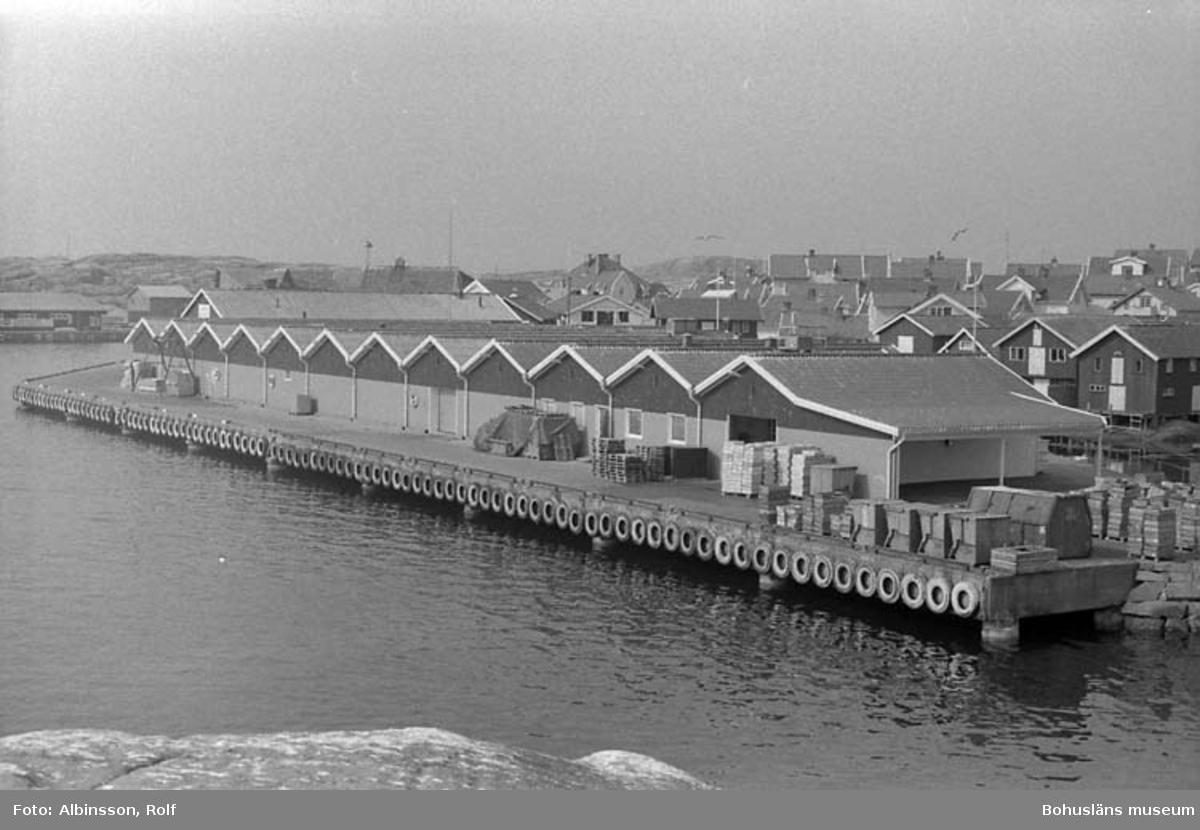 """Enligt fotografens noteringar: """"Smögens fiskauktion från Nordmanshuvudet.""""  Fototid: 1996-04-03.  1996-04-04.  1996-04-05."""