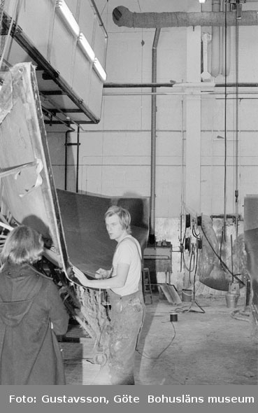 "Motivbeskrivning: ""Gullmarsvarvet AB, på bilden syns Arne Vejerbom och Christine Fredriksen."" Datum: 19801031"