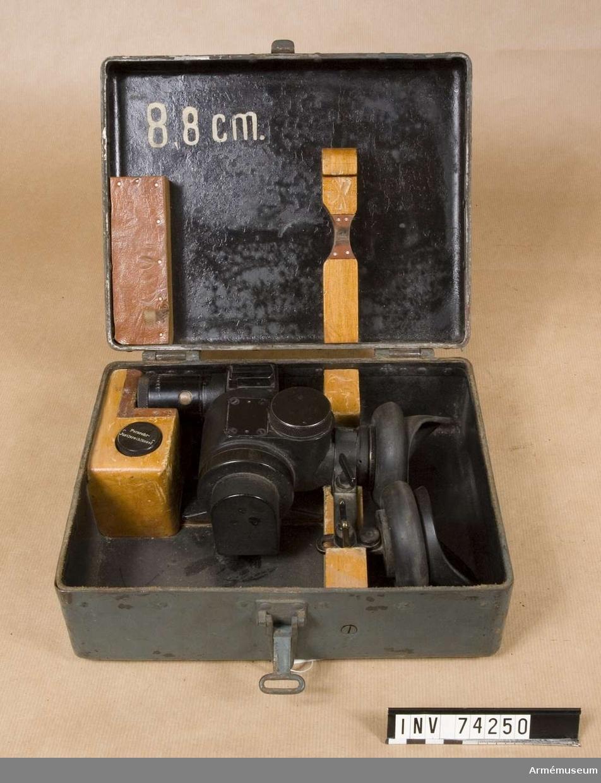 Grupp F III.  Kikarsikte för 7,5 cm kanon m/1900-1917 äldre typ 3 x 16,6 grader