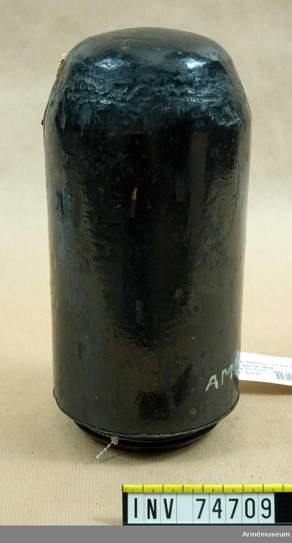 Grupp F:IV. Blind laddning (projektilmämmare) utgörande exercisammunition för 12 cm framladdningskanon m/1870.