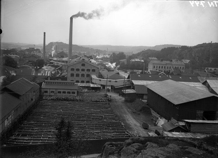 Vy över Uddevalla Tändsticksfabrik