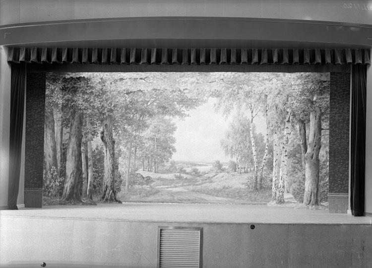 """Uppgift enligt fotografen: """"Uddevalla. Kongresshallen. Folkets park. Scenen."""""""