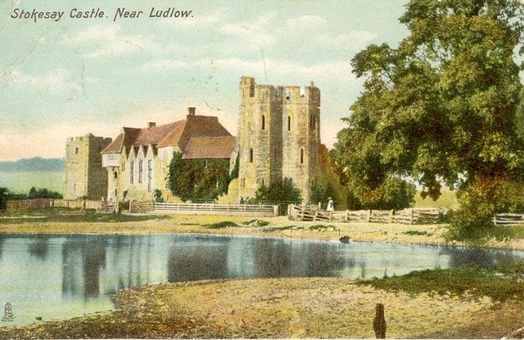 Notering på kortet: Stokesay Castle. Near Ludlow.