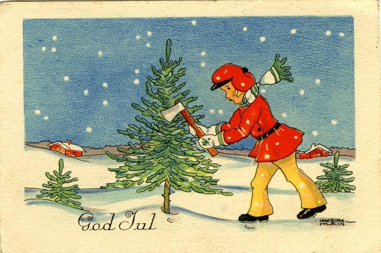 """Julkort. """"God Jul"""""""