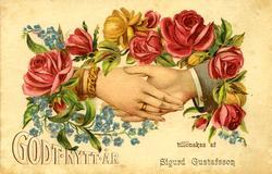 Notering på kortet: Godt Nytt År tillönskas af Sigurd Gustaf