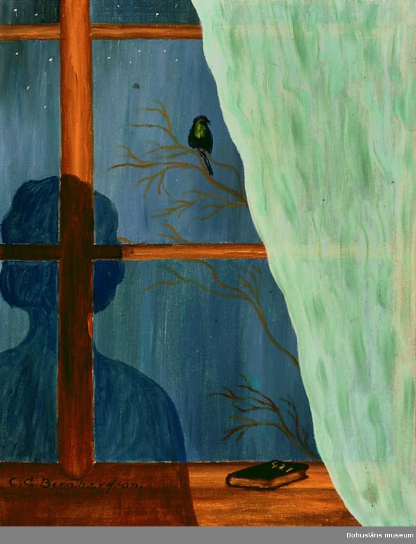 """Baksidestext: Bara - 421. Folklivsskildring från endast Skaftö C.G. Bernhardson.""""  Litt.: Bernhardson, C.G.: Bohuslänsk sed och folktro, Uddevalla, 1982, s. 92.  Titel i boken: """"Du E de du, eller hälsar du bara? Man trodde att vissa fåglar var eller bar hälsningar från anförvanter långt, långt bortifrån och från andra sidan.""""  Andra sidan = de dödas rike.  Övrig historik; se CGB001."""
