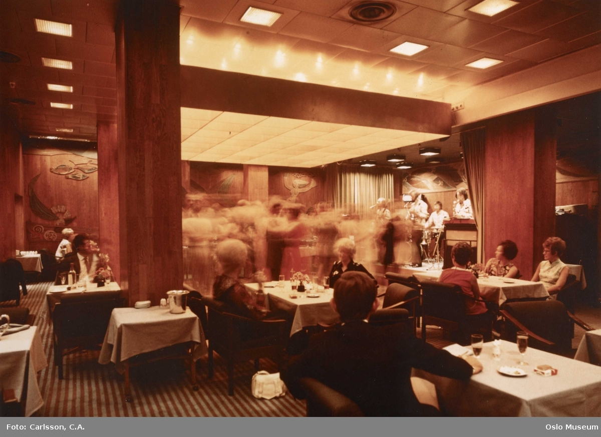 Hotell Viking, interiør, restaurant, danseorkester