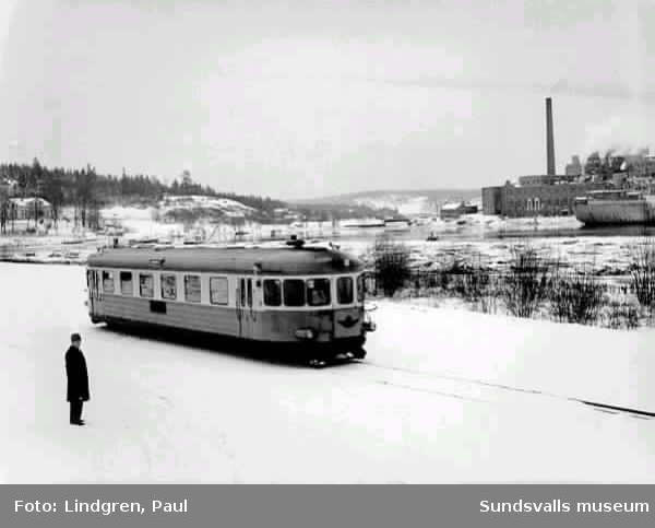 Ortvikenbanan invigs 29/12 1959.