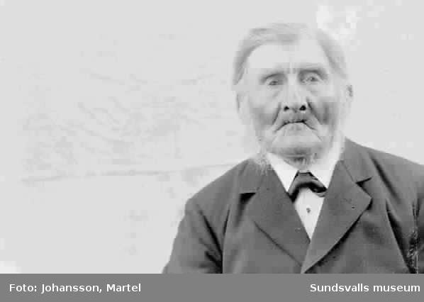 Porträtt.   Äldre man. Ev. Johan Persson.