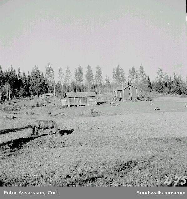 Liten lantgård i Norr-Huljens by.