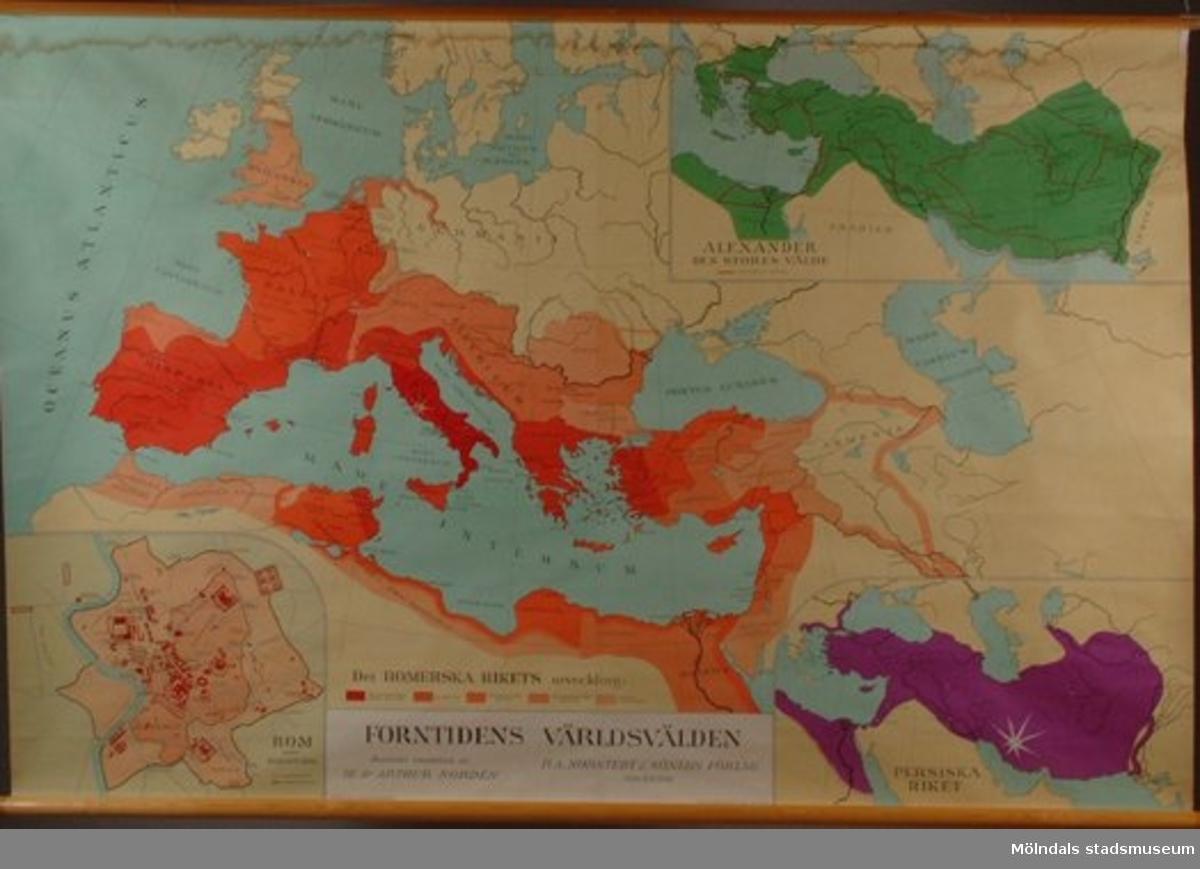 Karta över forntidens världsvälden. Till undervisning i geografi.