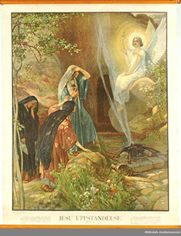 Skolkarta märkt nr 44.Jesu uppståndelse.