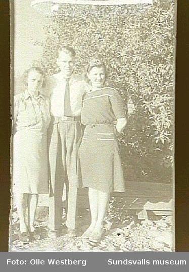 Linnea Westberg och Lennart och Anne-Marie Sjösten (född Westberg).