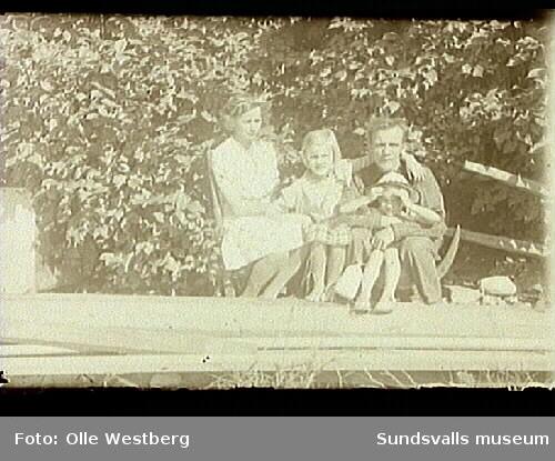 Familjen Linnea, Marianne, Britt-Marie och Olle Westberg.