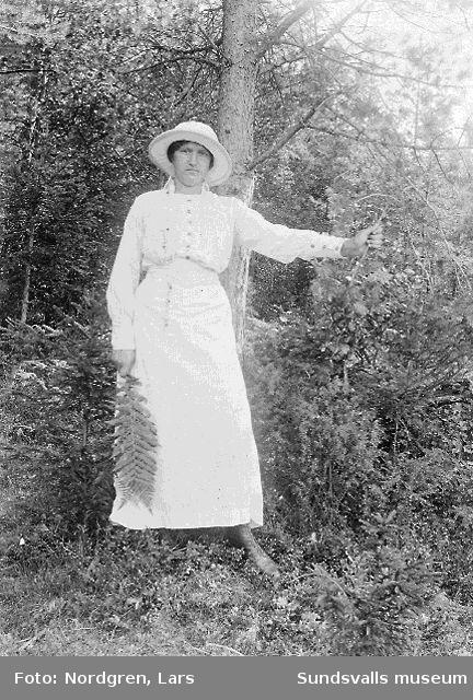 Gunda Larsson, syster till Linnea Westberg, döttrar till Lars och Anna Nordgren.