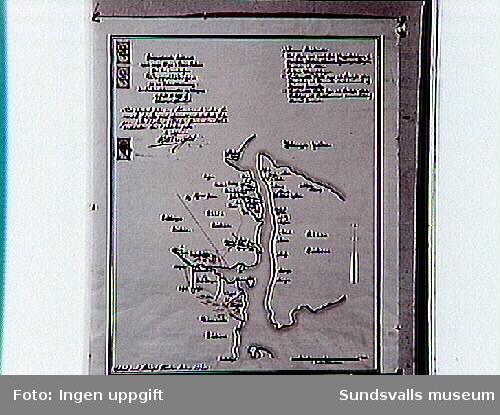 Karta över byar och deras innehav i Vapelskogen 1686. Ritad av C Stenklyft.
